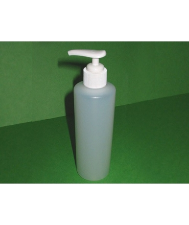 Plastic bottle equippeed with pump
