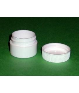 Pot de plastique avec couvercle