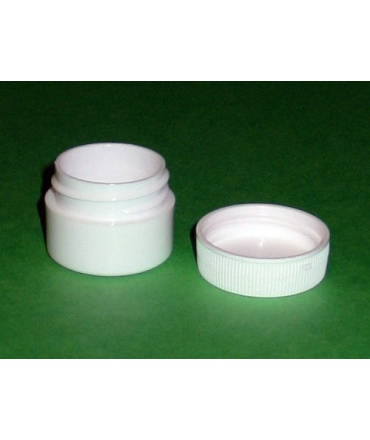 Plastic jar equipped with lid